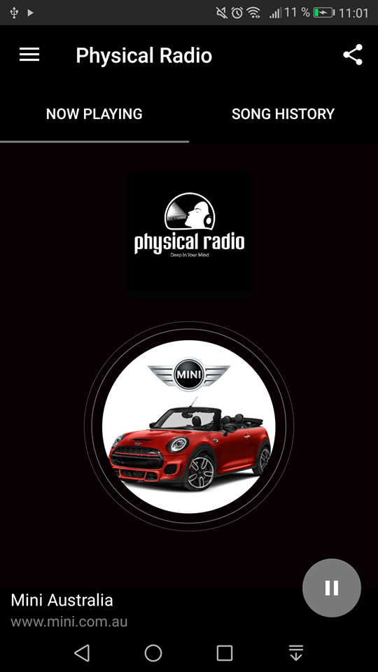 Physical Radio app