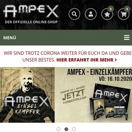 AMPEX Onlineshop jetzt verfügbar