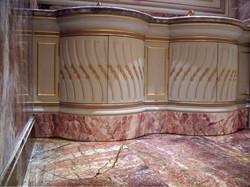 Plinthe en faux marbre
