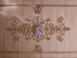 Plafond en faux bois