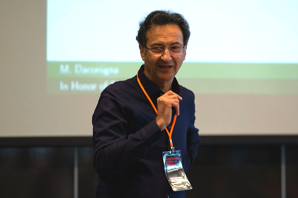 Prof. Dr. Michel Dacorogna at the Istanbul Bilgi University, speaking at the conference in honor of Ramazan Gençay.