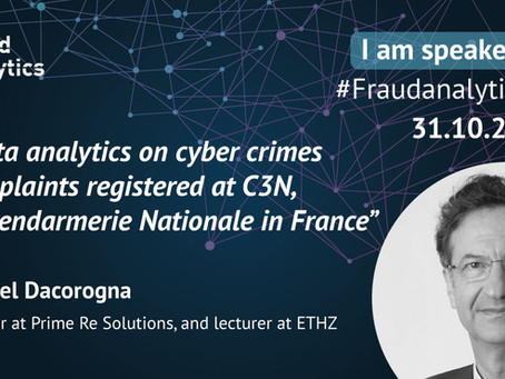 Prof. Dr. Michel Dacorogna speaks at the Fraud Analytics Conference in Yverdon-Les-Bains