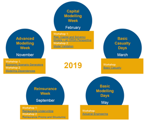 An overview of all the workshops taking place in 2019 hosted by the Prime Re Academy