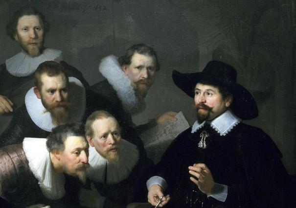 Bild: Rembrandt - die Anatomievorlesung