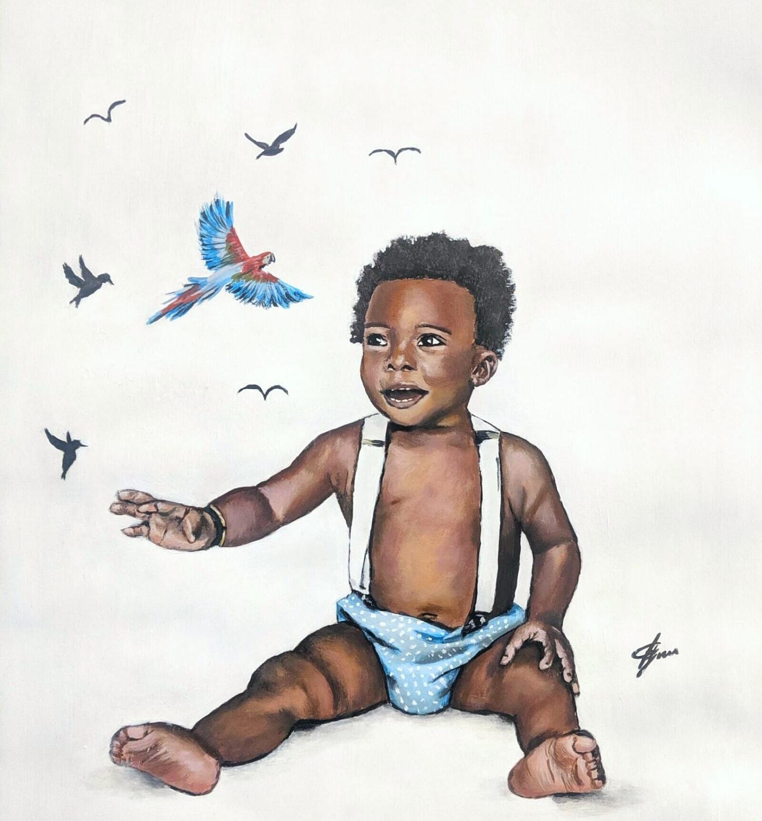 Happy-baby-painting