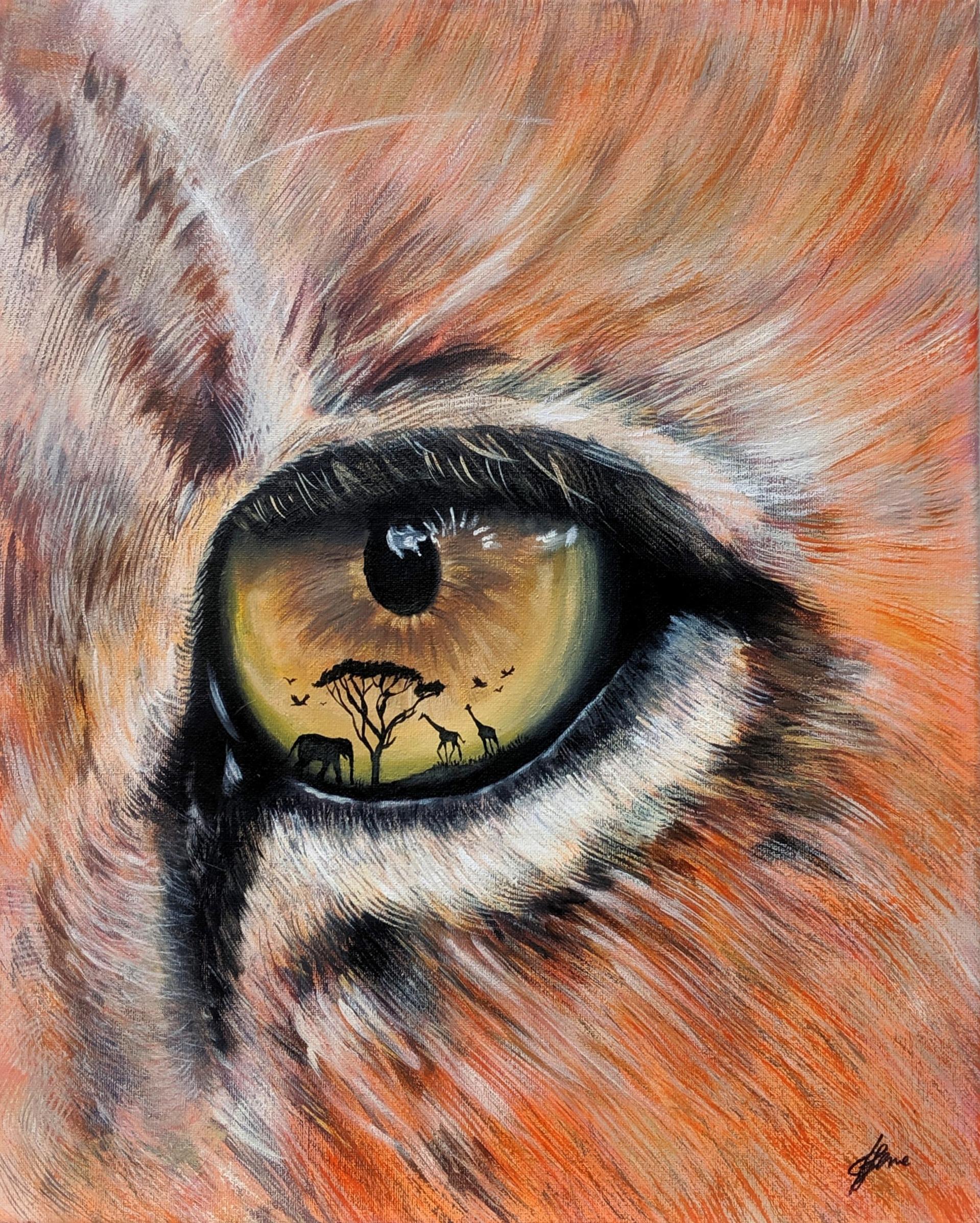Lion-eye-painting