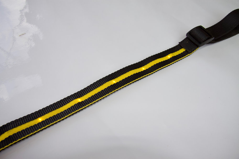 LED Breastplate in YELLOW