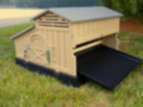 standard plastic chicken house