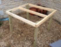 framework, plastic chicken coop