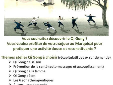 Atelier Qi Gong au Marquisat