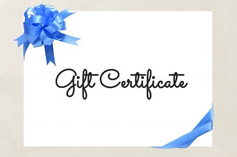 Gift Certificate blue ribbon