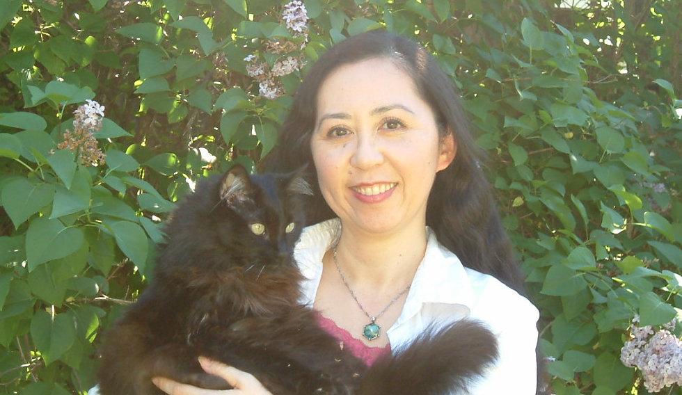 Keiko and black cat Fluffy Keiko Watt Golden Fairy 444