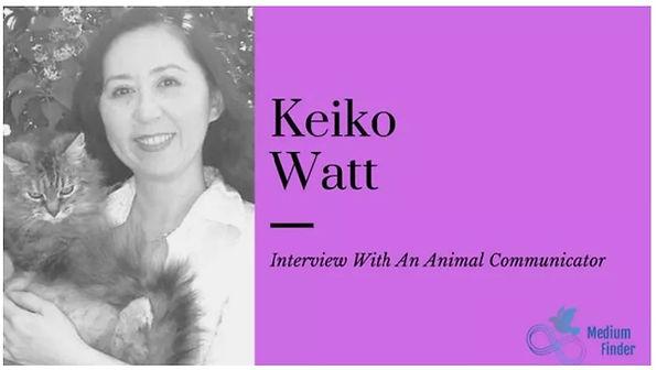 Animal communicator Keiko Watt with Tara the cat