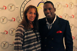 Lynn Childers, wife of Sam Childers, humanitarian, with Mike Jean.jpg