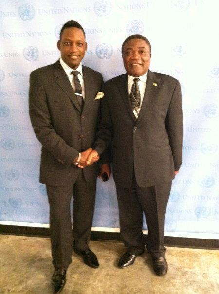 H.E. Mr Tommo Monthe (Cameroon) And Music Producer & Humanitarian Activist Mike