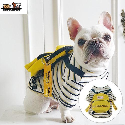 SUPREPET Dog Shirt w/ Black Strap Yellow Bag