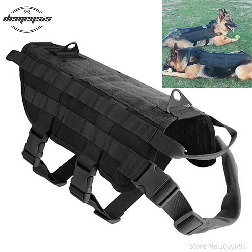 K9 Tactical Military 1000D Nylon Molle System Dog Training Harness