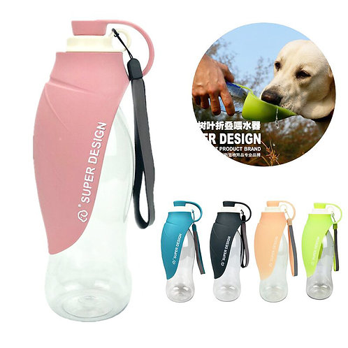 Sport Dog Silicone Portable Water Bottle