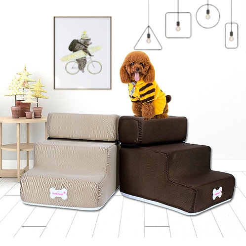 Anti-Slip Foldable and Removable Mesh Dog Steps