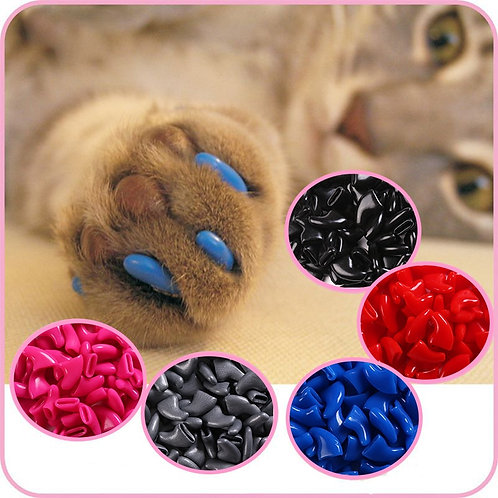 100 Pcs - Cats Kitten Paws Grooming Nail Claw Cap