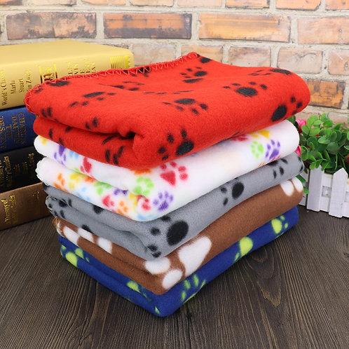 Soft Cute Paw Print Fleece