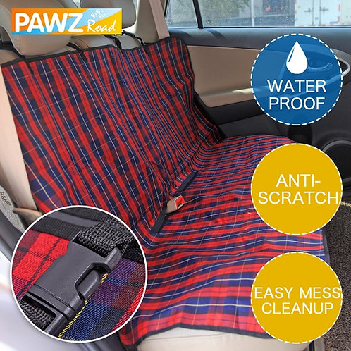 Plaid Durable Car Seat Cover/Back Seat Guard Fence