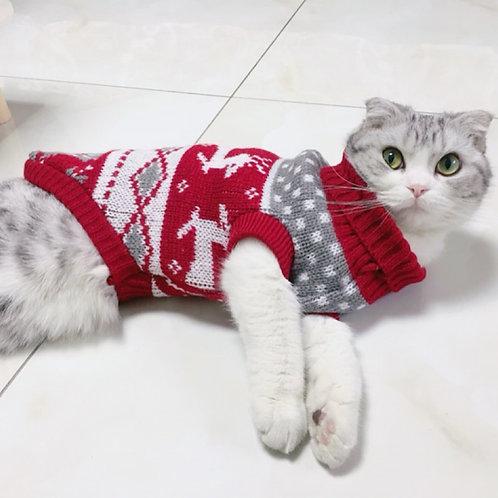 Reindeer Cat Sweater