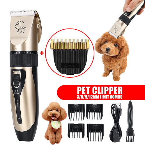 Low-Noise Professional Dog Hair Trimmer