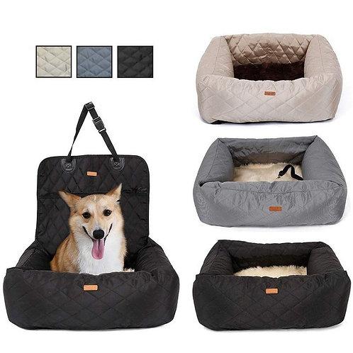 2 in 1 Pet Dog Carrier Folding Car Seat