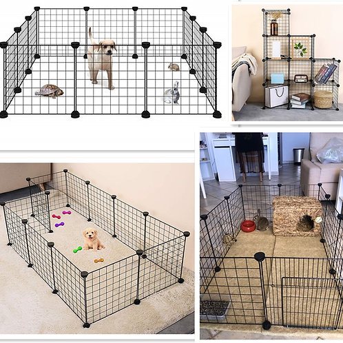Foldable Pet Playpen Iron Fence Kennel