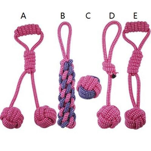 5Pcs  Cotton Rope Toy Set