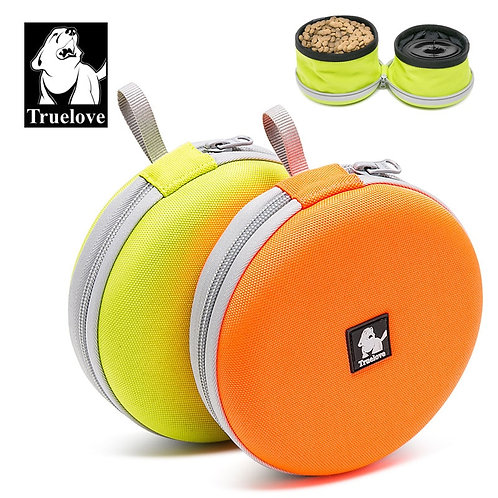 Truelove Foldable Travel Pet Food and Water Bowl
