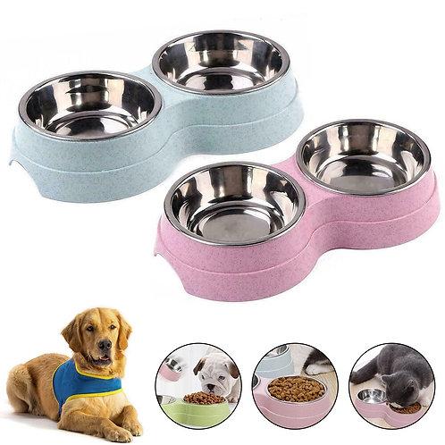 Double Feeding Pet Bowls