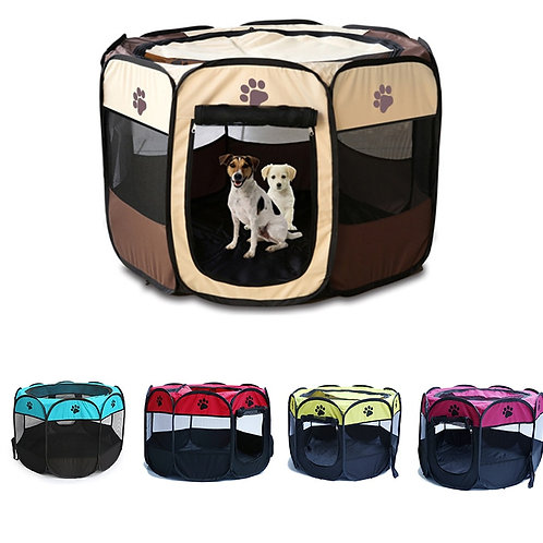 Foldable Traveling Pet Playpen Tent Crate