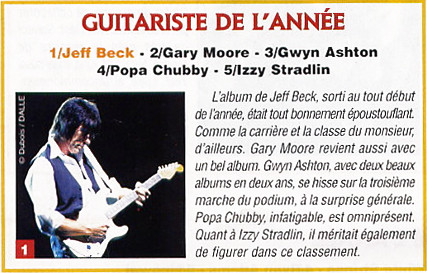2001 Guitarist Of The Year