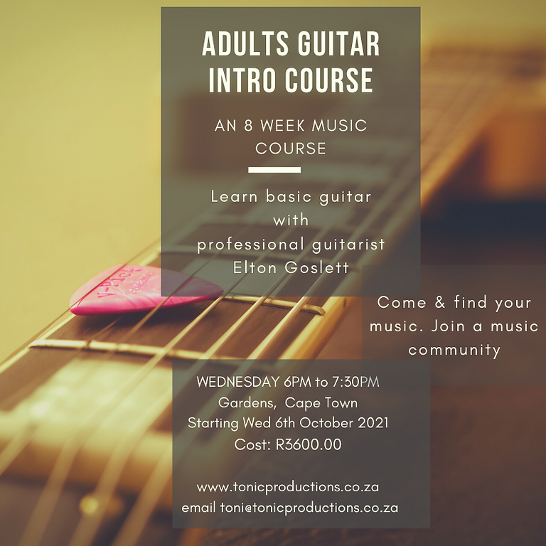 8 week Adults Guitar Course
