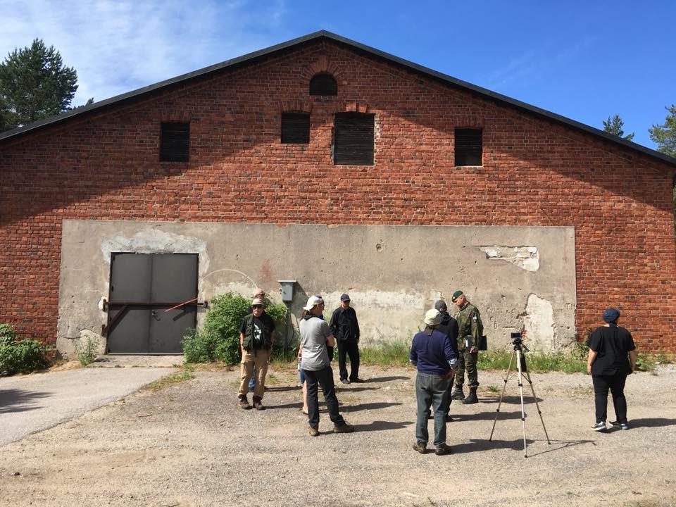 The execution wall behind the Sauna building at Dragsvik