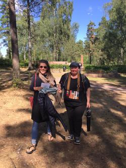 Maika Vuori with Maija Myosho Ijäs during the Civil War Retreat