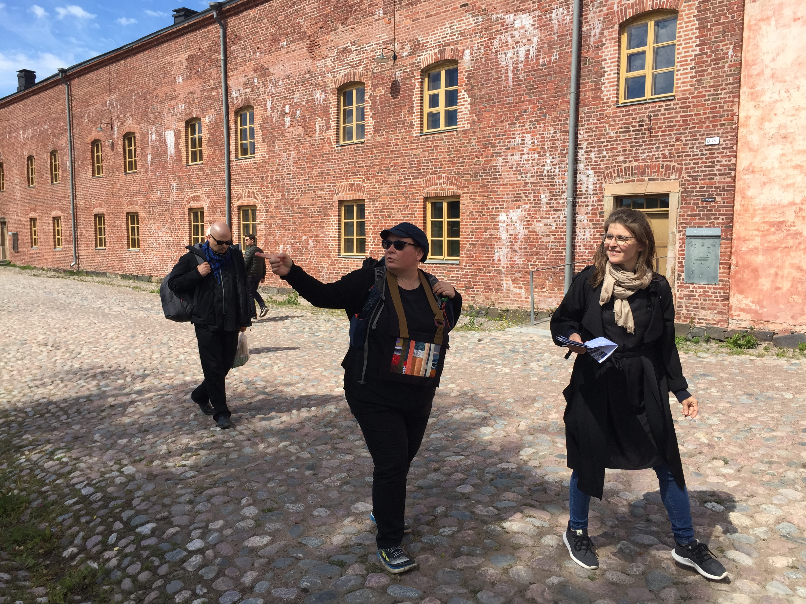 Peacemaker Maija Myosho Ijäs and Spirit Holder Maika Vuori bearing witness to Suomenlinna Prison Cam