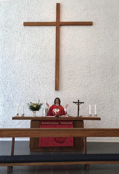 Reverend Maika Vuori at Pitäjänmäki Church