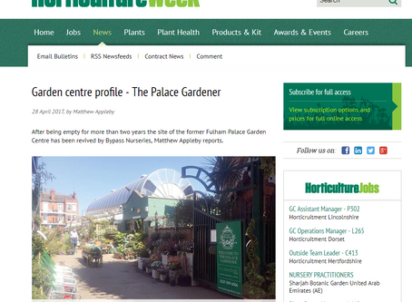 Read all about The Palace Gardener's opening in Horticulture Week!