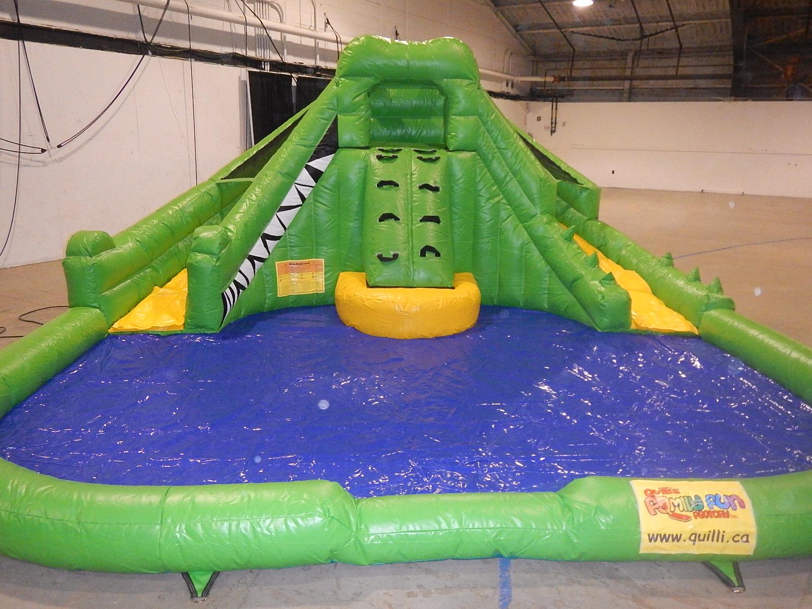 Toddler Crocodile Double Waterslide.