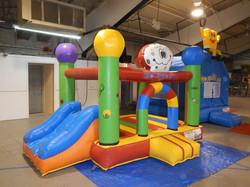 Big BALLOON Combo Slide Bouncer Toddler