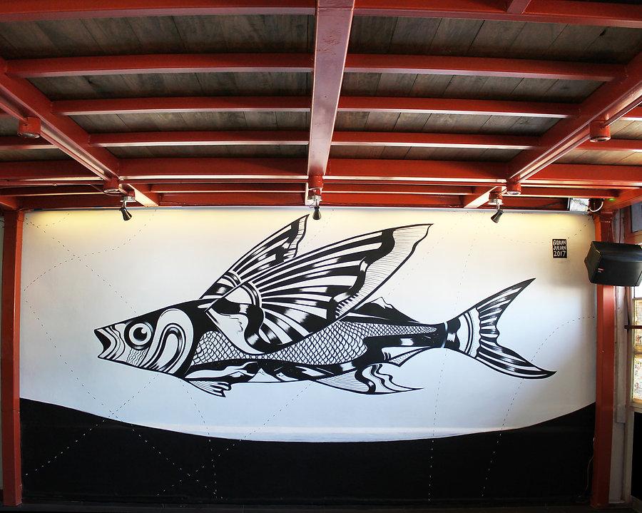 gibranjulian flyingfish mural