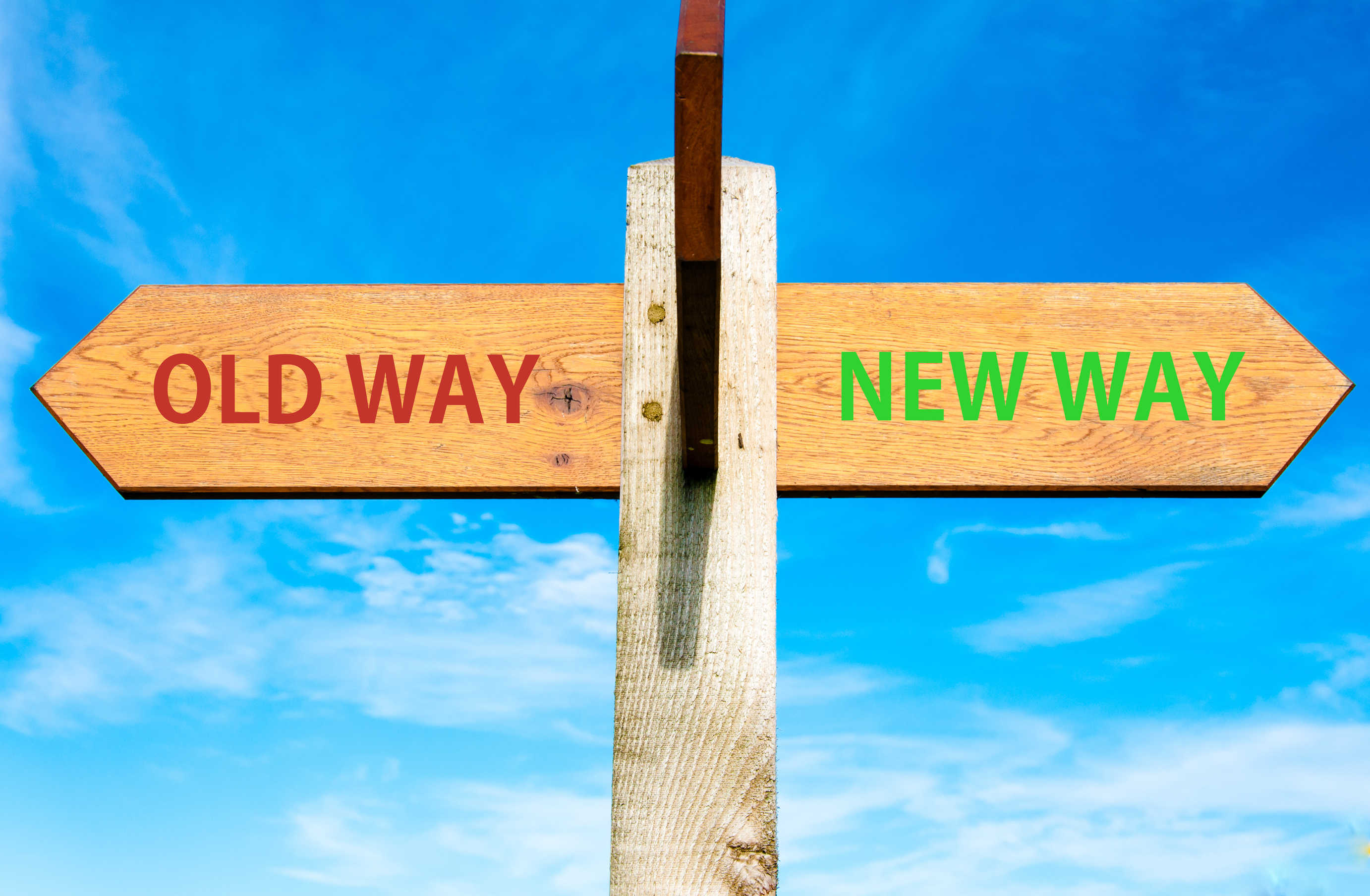 Old way-New way - ID 49033671 (c) Consta