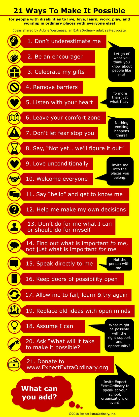 21 Ways to Make It Possible
