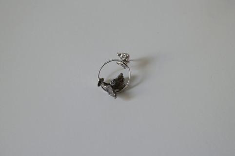 22 Plant earring in fine silver - hkd $580