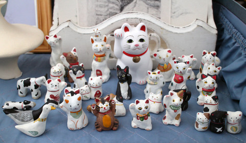 hand-made cat collection