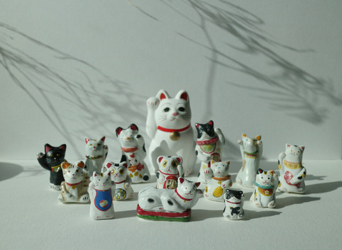 hand-made cats collection