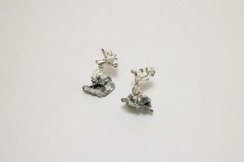37 plant earrings - hkd $1050 (pair)